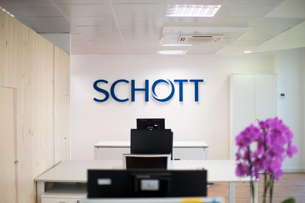 Diseño y decoración de las nuevas oficinas de Schott en Barcelona